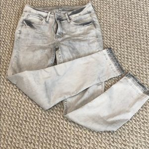 Calvin Klein light gray skinny jeans
